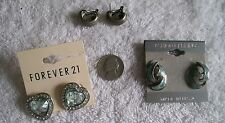THREE PAIRS OF ASSORTED EARRINGS LOT, NICE SELECTION, ONE LOW PRICE, GREAT GIFT