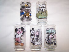 5 WALT DISNEY PRODUCTIONS GLASSES MICKEY MOUSE GOOFEY 50 YEARS MAGIC ANNIVERSARY