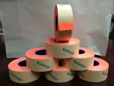 GENUINE GARVEY LABELS FOR PRICE GUN 22-6  22-7  22-8 RED FLUORESCENT 12 ROLLS