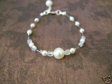 Bracelet couleur Ivoire/Cristal robe de Mariée/Mariage