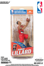 McFARLANE NBA 30 PORTLAND TRAIL BLAZERS DAMIAN LILLARD FIGURINE -argent LEVEL