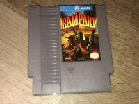 Rampart Nintendo Nes Cleaned & Tested Authentic