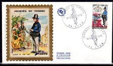 FRANCE FDC - 1970 3 JOURNEE DU TIMBRE - LYON sur soie