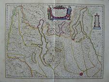 MAPPA STATO ALPESTRE DI MILANO 1640 LOMBARDIA COMO ANGIERA BRIANZA COLOGNO