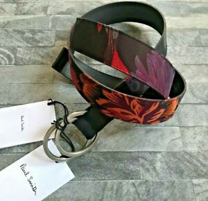 PAUL SMITH FLORAL RIPSTOP BELT SIZE 34 RETAIL €145 MADE IN SPAIN BNWT