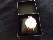 Q And Q Brand Men's round Leather Watch,  EXCELLENT