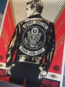 SHEPARD FAIREY & HENRY ROLLINS Signed And Numbered  2016/2017 Print Sold Out