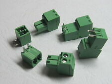 100 pcs Angle 2 pin Pitch 3.81mm Screw Terminal Block Connector Pluggable Type