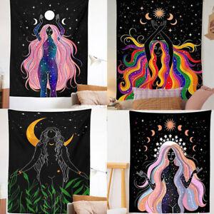 Indian Moon Phase Girl Mandala Tapestry Wall Hanging decor wall decoration cl^lk