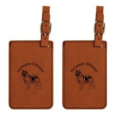 L3611 Norwegian Elkhound Luggage Tags 2Pk Free Shipping