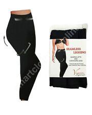 LADIES BLACK THICK FULL WINTER WARM STRETCH SEAMLESS LEGGINGS