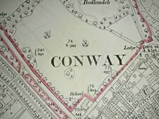Old Antique Ordnance Map 1913 Carnarvonshire IV.12 Conwy (Conway Town) ..