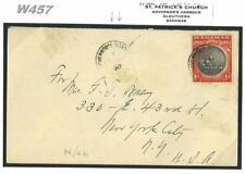 W457 1930 BAHAMAS Governor's Harbour/USA New York {samwells-covers}