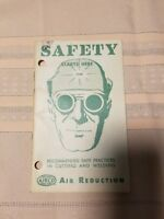 Vintage Airco Welding Safety Shop Phamplet Booklet, Welding Collectible