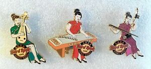 HARD ROCK CAFE HONG KONG 2008 PLAY CHINESE MUSIC GIRL 3 PINS LE500