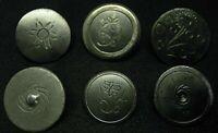6 antike Trachtenknöpfe Zierknöpfe Handarbeit 18.Jh. aus Metall Originale