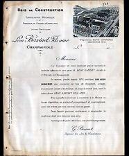 """CHAMPAGNOLE (39) USINE de CAISSES en bois & TONNELERIE """"Léon BAZINET"""" en 1909"""