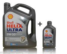 Shell Helix Ultra AG 5W30 1x5 Liter +1x1Liter Opel GM Dexos2 Motoröl