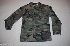 "Mens Carbon Jacket DISTRESSED CAMO Heavy Cotton ""GOOD VIBES"" Cargo Pkts SIZE S"