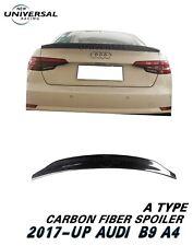 Carbon Fiber Trunk Spoiler Lip For 17-18 Audi A4 B9 /Quattro/S4 Sedan Type A
