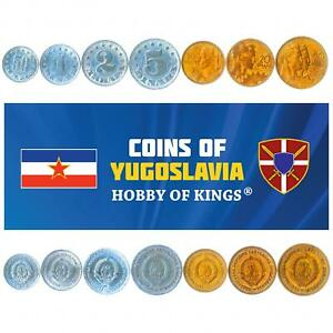 SET OF 7 COINS FROM YUGOSLAVIA. 50 PARA, 1, 2, 5, 10, 20, 50 DINARA. 1953-1955