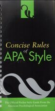 CONCISE RULES OF APA STYLE (4TH ED. 2007) 2007 SC Book