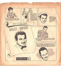 BILLY REGIS--PICTURE SLEEVE + 45-(ALLEGHENY MOON/A KISS BEFORE DYING)--PS--PIC