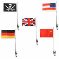 Motorcycle Luggage Rack Mount Flag Pole Fits For Touring Road King