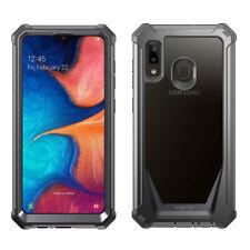 Samsung Galaxy A20 Case Poetic Full-Body Hybrid Bumper Shockproof Cover Black