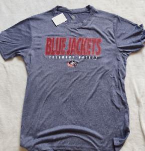 Columbus Blue Jackets NHL mens XL Navy crew neck T-Shirt new with tags nhl