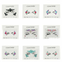 Temporary Eye Face Tattoo Day of the Dead Sticker Festival Body Art Makeup Party
