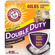 Arm and Hammer Double Advanced Odor Control Clumping Cat Litter Scented 40Ibs