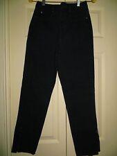 womans skinny jeans CHEMIN DE FER black Vintage 1980's high waist ankle length