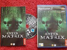 ENTER THE MATRIX  ORIGINAL  BLACK LABEL SONY  PLAYSTATION 2 PS2 PAL