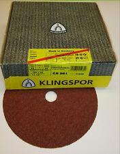 25 x Klingspor Schleifscheibe CS 561   180 mm K24   für Holz / Metall