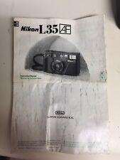 Nikon L35 35mm SLR Film Camera Body Only