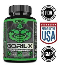 GORIL-X - Ultimate 6-IN-1 Male Enhancement (60 Capsules) Increase Size, Libido