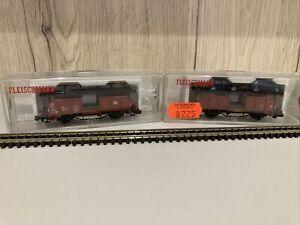Fleischmann N Gauge Car Transporter Wagons DB 8224K 8225K 4 Cars Unused