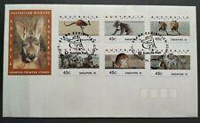 1995 Australia Animals Koala & Kangaroo CPS FDC Singapore '95 Exhibition Cachet