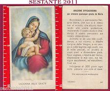 299 SANTINO HOLY CARD S. MARIA MADONNA  DELLE GRAZIE ED G MI ED. G MI. 142