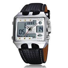 Neuf LED Sport OHSEN Blanc aiguilles digital Quartz Homme Bracelet Montre K68