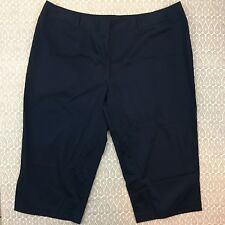 Avenue Women's  Navy Blue Dress Pants Trousers Size 26 F57