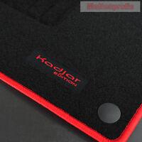 Mattenprofis Velours Logo Fußmatten für Renault Kadjar ab Bj.06/2015 - rot