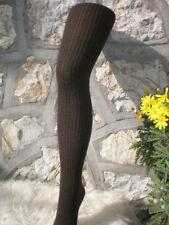 Collant laine hiver Chocolat À Côtes. Taille M (40/44)