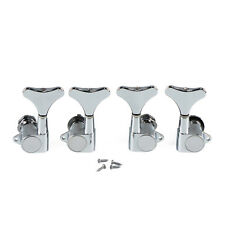 NEW 4pcs Chrome Bass Tuning Pegs 2L2R Machine Head Bass Gotoh Style String Tuner