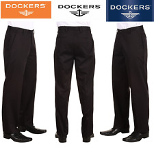 Dockers Easy Khaki D2 Straight Fit Flat-Front Black Pants 46682-0007