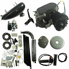 Black 2 Stroke Gas Engine Motor Kit DIY 80CC Universal Motorized Bike Bicycle