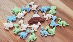 18 Edible Sugar Dinosaurs Cake Topper, Cupcake Decoration, Birthday Cake