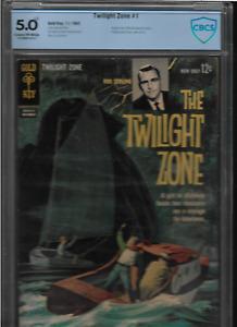 "1962 RARE 1st  ISSUE  "" THE TWILIGHT ZONE "" GOLD KEY COMIC BOOK  GRADED & CERT."