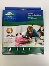"PetSafe 2-Way Interior Cat Door Up to 15lb 5-3/4""x 5-3/4"" Flap Opening Brand New"